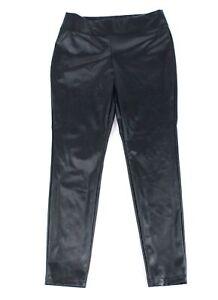 INC Womens Pants Black Size 12 Faux-Leather Skinny Mid-Rise Leggings $59 457