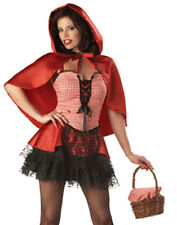 Sexy Gothic Little Red Riding Hood Plus Size Adult Halloween Costume XL