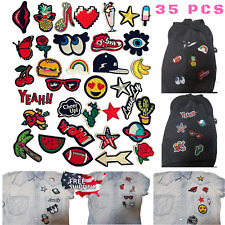 Wholesale Iron On DIY Sew On Embroidered Patches lot Motif Appliques Decorative