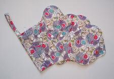 Reusable Bamboo Menstrual Sanitary Pad 5 Piece Set (Purple Swirls) FREE P&P!
