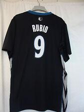 Adidas Swingman NBA Jersey Minnesota Timberwolves Ricky Rubio Black Sh Slv 2X