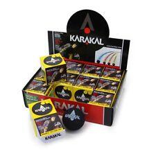 KARAKAL PRO SQUASH BALLS DOUBLE YELLOW DOT (BOX OF 12 BALLS)