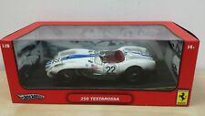 Hot Wheels 1:18 Ferrari 250 TESTAROSSA  No. 22 White Brand New
