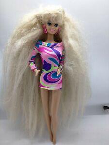 Totally Hair Barbie doll Super Long Blonde Hair 1991