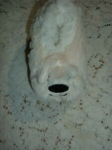 WHITE POLAR BEAR TODDLERS SNOOZIE COZY LITTLE FOOT COVERINGS MD/LG/XL SLIPPERS