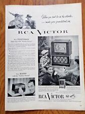 1952 RCA Victor TV Television Ad  Baseball Theme