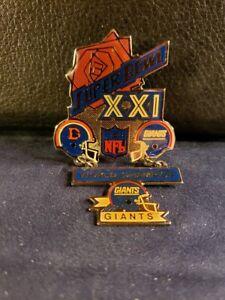 NFL Super Bowl XXI New York Giants Championship Pin (New/Unused)