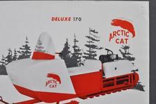 Orig Rare 1964 Arctic Cat Snowmobile Dealer Sales Sell Sheet Model Deluxe 170