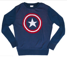 Marvel Captain America Knitted Sweater Size Large NWT