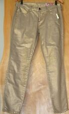 "SIWY Hannah Slim Pants Gold Metallic ""Shine One"" Skinny Jeans Size 29"