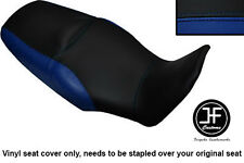 BLACK ROYAL BLUE VINYL CUSTOM FOR HONDA XL 1000 V VARADERO 08-13 DUAL SEAT COVER