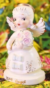 ❤️ CUTE! Vintage May Mother's Day Birthday Girl Figurine Napco Betson's Kitsch
