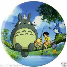 """My Neighbor Totoro """"Fishing At The Pond"""" Pin Back Button 3"""" Free Shipping"""
