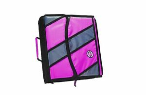 """Case-It Zipper 3 Ring Binder With Built-In 5-Tab File 2"""" D-Rings"""