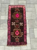 """Turkish Wool Small Area Rug, Hand Knotted, 3'3""""x 1'6"""" FREE SHIPPING! - 415"""