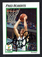 Fred Roberts #119 signed autograph auto 1991-92 Hoops Basketball Trading Card