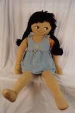 "Vintage 36"" Sewn Fabric Boudoir Bed Warmer Doll"