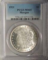 1921-P $1 Morgan Silver Dollar PCGS MS65 #30731236 VAM 3X DIE BREAK 6TH RT STAR!