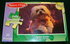 Jigsaw Puzzle Dog Melissa & Doug 30 Fully Interlocking Pieces Ages 3+ USA  (994)