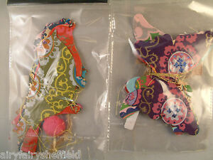 BIRD or BUTTERFLY mobile hanging paper folksy vintage 160cm  (is-tb099/100)