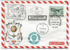 1968 IFA Ballonpost Pro Juventute Aerostato OE-DZB HB-BOE Osterreich Wien