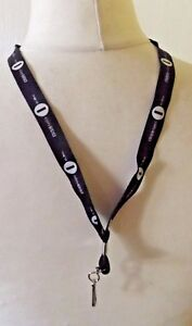 BBC Radio 1 Black Lanyard Keyring. With Metal Clip. Holder For Pass, Keys, I.D