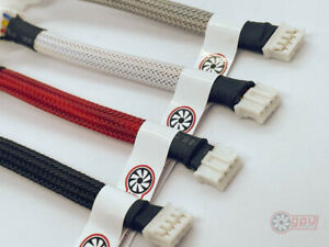 GPU mini 4-Pin PWM Fan Adapter Cable Graphics Card - Red / Black / White / Grey
