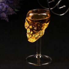 Skull Bar Shot Glass Head Vodka Whiskey Cup Skeleton Drinking Crystal Ware Clear