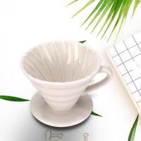 White Ceramic Coffee Dripper Non Electric Pour Over Coffee Maker