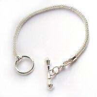 Armkette Armband Damen Armreif Knebelverschluss silber Kette 19 cm Mode Schmuck
