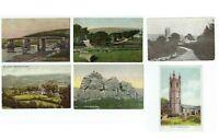 LOT of 6 Widdecombe-in-the-Moor Dartmoor Postbridge UK 1904-10 Divided Postcards