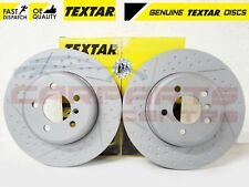 FOR BMW 3 4 SERIES 12- M SPORT REAR COATED CROSS DRILLED TEXTAR BRAKE DISCS 345