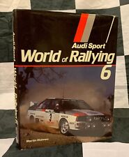 1983 1984 AUDI SPORT WORLD OF RALLYING 6 YEARBOOK ANNUAL BOOK WRC HANNU MIKKOLA
