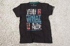 Tom Tailor T-Shirt Herren Größe S - You R What U Are - Schwarz - Shirt H30