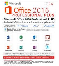 Microsoft Office 2016 Professional Plus, Volumenlizenz, gebraucht