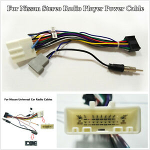 20 Pin Wiring Harness Adapter 1 or 2 DIN Android Stereo Power Cable For Nissan