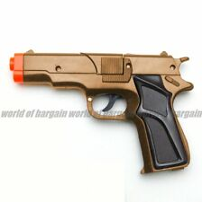 2 Super Cap Gun Toy Spy Pistol Detective Revolver Fires 8 Ring Caps Silver Color