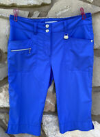 DAILY SPORTS Womens Golf Shorts Size 8 Blue Stretch Bermuda Length Activewear