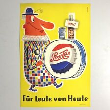 Sehr seltene Pepsi Cola Reklame Pappe mit Clown. 1950 - 1959
