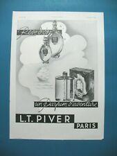 PUBLICITE DE PRESSE PIVER REVE D'OR UN PARFUM D'AVENTURE PARFUM 1933
