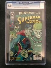 RARE CGC 8.0 COMIC ADVENTURES OF SUPERMAN #473 WHITE PAGES