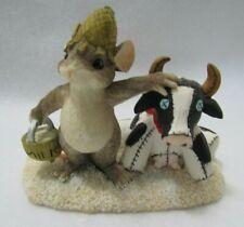 Fitz & Floyd Charming Tails Figurine (Farmer MacKenzie ) Mouse & Cow 87695