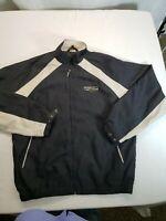 Ann Arbor Railroad System Logo Mens Lined Jacket Coat Vintage Size XL  T52-1147