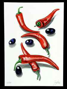 "Original Art Graphic "" Food & Beverages "" Graphic,Grafica,Gráfico,Autographed"