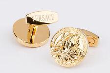 Versace Cufflinks Gold jewelry for men Brass metal Shirt dress suit Round