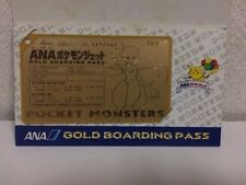 Rare!! Pokemon PROMO ANA Limited mewtwo GOLD Boarding Pass Card 1998