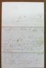 Original Civil War soldier Letter FORT Richardson Va. December 31st, 1863