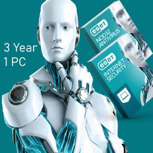 ESET NOD32 Antivirus Internet Security 3Year 1 PC v4.0-12  License key Global