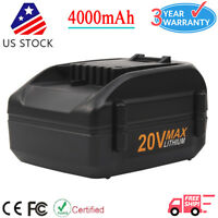 20V 4.0Ah Max Lithium Extend Battery For Worx WA3520 WA3525 WG151 WG155 WG163 US
