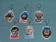 vtg. LUMINOUS MONSTER KEY CHAIN LOT x6 keychain key ring Wolfman Dracula Mummy